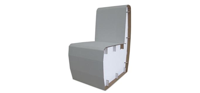 Sedia in Cartone personalizzabile | Stampaindigitale.it